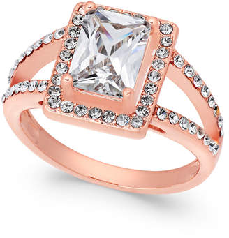 Charter Club Rose Gold-Tone Cubic Zirconia Ring