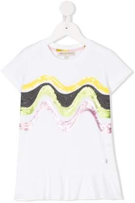 Emilio Pucci Junior wavy sequin T-shirt