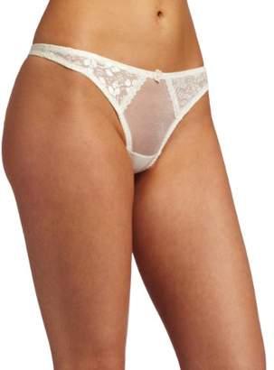 Carnival Womens Satin Lace Thong Panty
