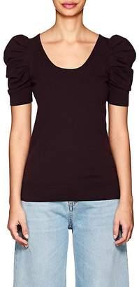Co Women's Puffed-Shoulder Knit Merino Wool Top