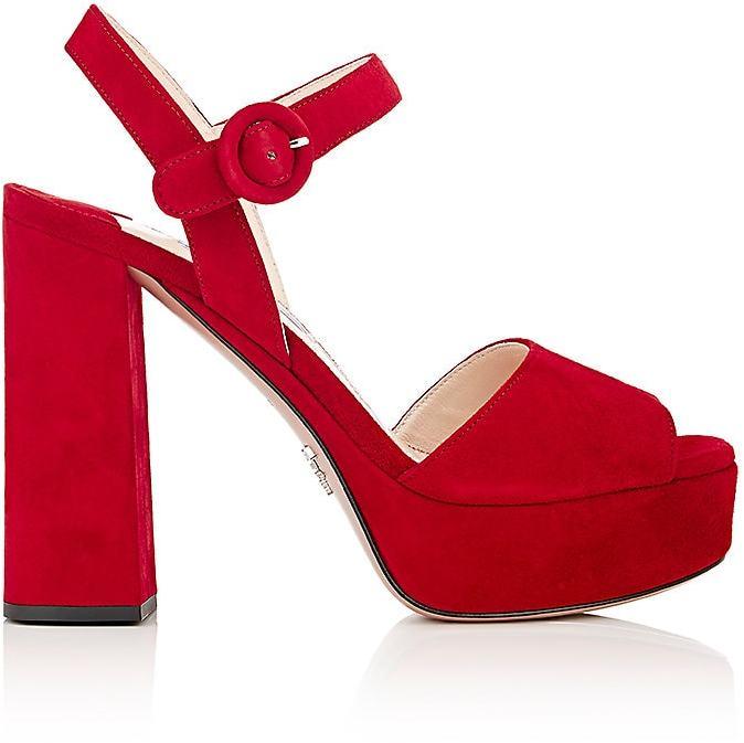 Prada Women's Ankle-Strap Platform Sandals