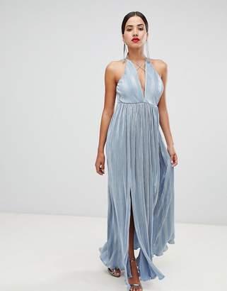 Rare London strappy double split maxi dress