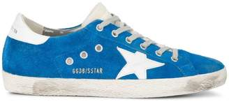 Golden Goose Electric Blue Superstar suede sneakers