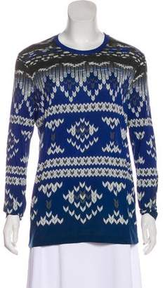 Prabal Gurung Long Sleeve Printed Top