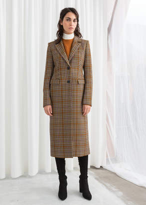 And other stories Plaid Hourglass Coat