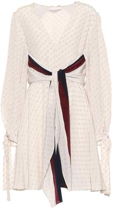 Stella McCartney Printed silk minidress