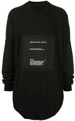 Julius patch detail T-shirt