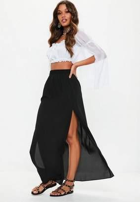 Missguided Tall Black Maxi Skirt
