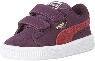 Puma Girl's Suede 2 Straps Inf Sneakers, Dark Purple/Love Potion