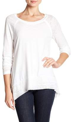 Melrose and Market Burnout Curved Hem Tee (Regular & Petite)