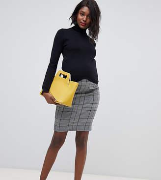 Mama Licious Mama.licious Mamalicious maternity check tube mini skirt
