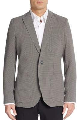 Saks Fifth Avenue Slim-Fit Checkered Sportcoat