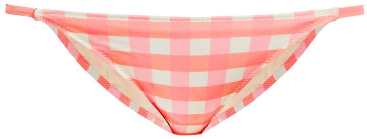 Solid & Striped The Morgan gingham bikini briefs