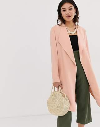 Miss Selfridge duster coat in pink