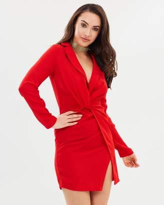 Missguided Twist Front Mini Dress