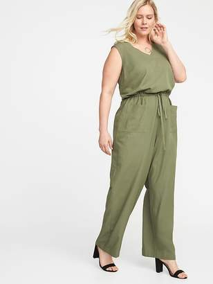 Old Navy Waist-Defined Plus-Size Sleeveless Utility Jumpsuit
