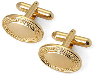 Aspinal of London Engraved Edge Oval Cufflinks