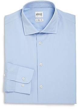 Armani Collezioni Men's Modern-Fit Cotton Dress Shirt