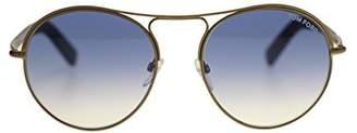 Tom Ford Round Men's Sunglasses FT0449 37W Matte /Blue Gradientmm