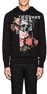 Alexander McQueen Men's Skull-Print Cotton Hoodie - Black