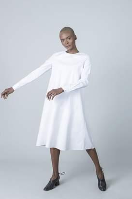 Solika Contrast Pleated Dress