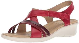 Ecco Women's Felicia Wedge Sandal Chili red/Bordeaux