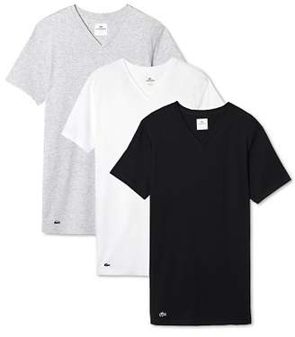 Lacoste Cotton V-Neck Tee, Pack of 3