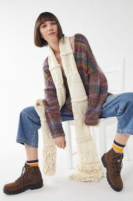 Urban Outfitters Mixed Knit Oblong Scarf