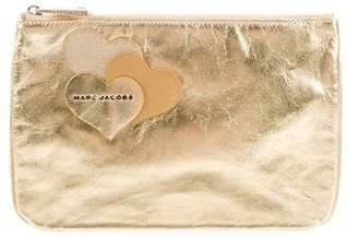Marc Jacobs Metallic Zip Clutch