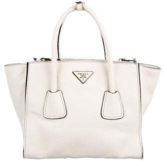 Prada 2016 Glace Calf Small Twin Pocket Tote