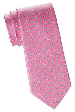 Salvatore Ferragamo Men's Snail& Flower Silk Tie