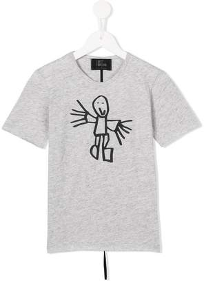 Lost And Found Kids stick man print T-shirt