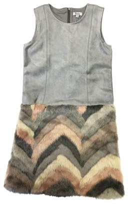 Couture Frenchie Mini Pastel Faux Fur Dress (Little Girls & Big Girls)
