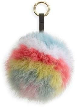 The Fur Salon Fox Fur Pom Pom Keychain