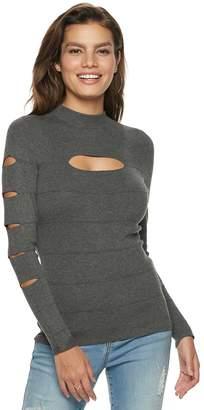JLO by Jennifer Lopez Women's Slash-Sleeve Mockneck Top