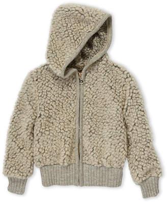 Elsy Toddler Girls) Grey Sherpa Jacket