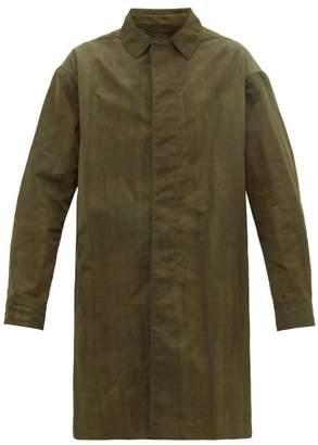 Lanvin Japanese Tie Dye Trench Coat - Mens - Green