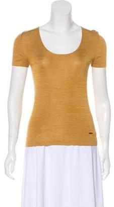 Akris Stripe Short Sleeve Top