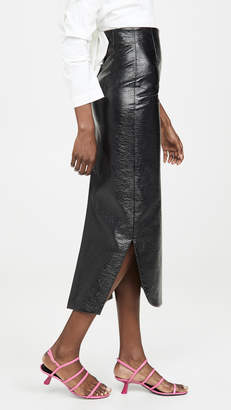 Awake Canyon Metallic Pencil Skirt