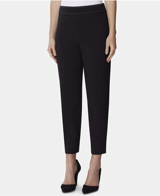 Tahari ASL Side-Zip Studded Pants