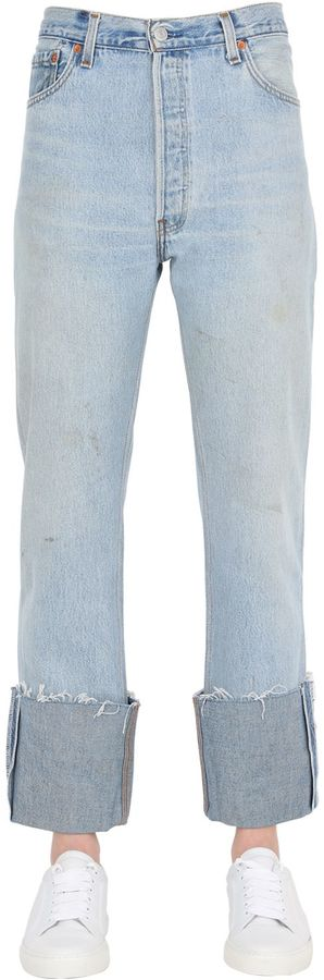 Re Done Straight Cuffed Vintage Denim Jeans