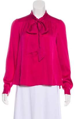 Diane von Furstenberg Trelodie Tie Silk Top