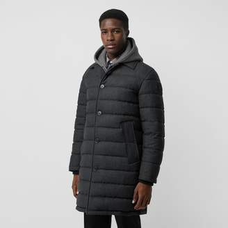Burberry Wool Flannel Down-filled Car Coat