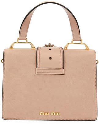Miu Miu Lady Jeweled Top-Handle Bag