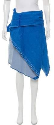Dion Lee Denim Knee-Length Skirt