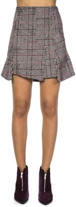 McQ Checked Wool Blend Skirt