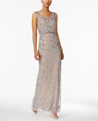Adrianna Papell Embellished Blouson Gown $249 thestylecure.com