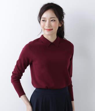 NEWYORKER women's 【Days Knit】ポロ襟ミラノリブ プルオーバー(手洗い可能)