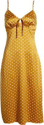 J.o.a. Sleeveless Satin Midi Dress