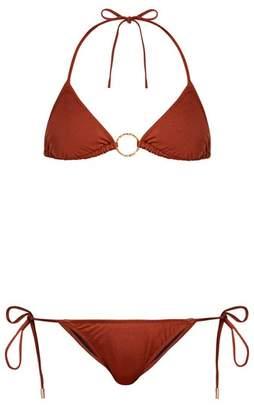 Melissa Odabash Miami Triangle Bikini - Womens - Brown